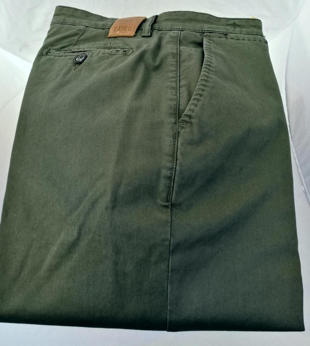 Exigo, pantalone uomo in cotone elasticizzato vestibilità regolare.
