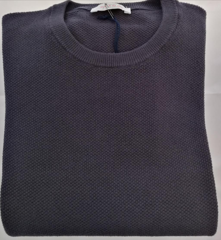 84057, maglia in cotone uomo girocollo, lavorazione punto riso.