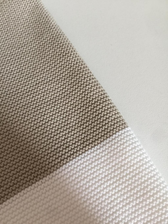 Maglia S216134, cardigan in cotone bicolor