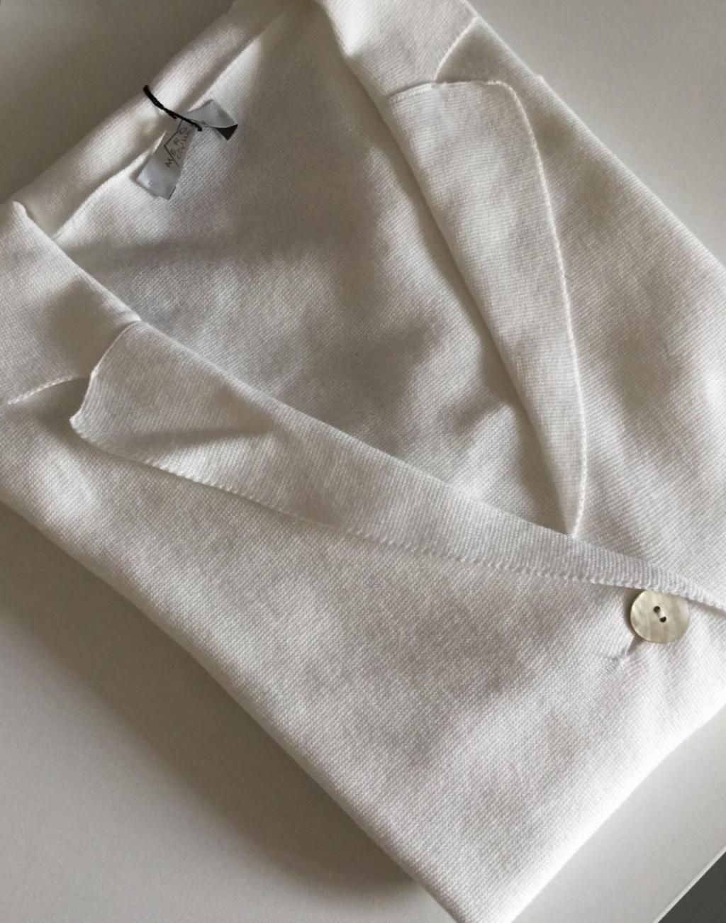 Giacchina in Maglia S260141, tessuto cotone, filato leggero sottile, manica lunga